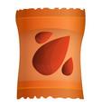 peanut packet icon cartoon style vector image