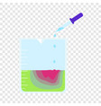 pipette beaker icon flat style vector image