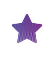 purple abstract star with half tone effects dots vector image