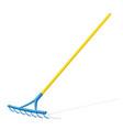 rake garden tool vector image vector image
