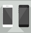 realistic mobile phone collection in new iphone st vector image vector image