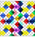 Retro seamless pattern Colorful mosaic banner vector image
