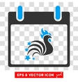 Rooster Fireworks Calendar Day Eps Icon vector image vector image