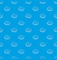 round cloud pattern seamless blue vector image vector image