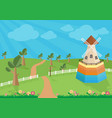 rural landscape with windmill vector image vector image