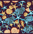 sea life seamless pattern underwater background vector image