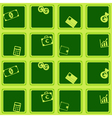 Seamless background with financial icons vector image vector image