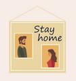 self-isolation coronavirus prevention stay home vector image vector image