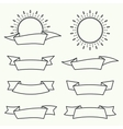 Set of decorative vintage elements vector image