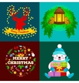 set of greeting cards and banners Merry Christmas vector image vector image