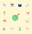 set of job icons flat style symbols with vector image vector image