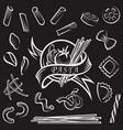 set pasta elements vector image