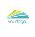 shape colored shine logo vector image vector image