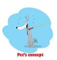 Sitting dog vector image