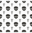 skull and cross sumbol seamless pattern hand vector image vector image