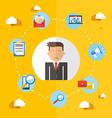 Social media businessman flat vector image vector image