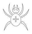 Spider icon outline style vector image