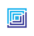 square business logo vector image vector image
