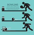 Steps Of Playing Bowling Symbol vector image