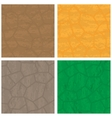 Stone textures set vector image vector image