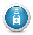Warning Bottle glossy icon vector image vector image