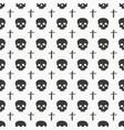 skull and cross sumbol seamless pattern hand vector image