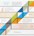 business template infographics vector image