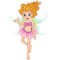 A beautiful young fairy vector image