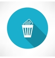 basket with documents icon vector image