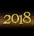 2018 from golden glitter vector image