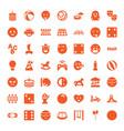 49 fun icons vector image vector image