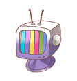 A television is placed vector image vector image