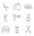 accurate icons set outline style vector image vector image