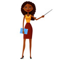 african attractive young lady presenting something vector image vector image