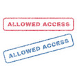 allowed access textile stamps vector image vector image