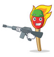army match stick character cartoon vector image