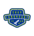 badge of longboard shop vector image vector image
