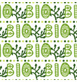 bio green lettering pattern eco seamless vector image vector image