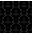 Black Seamless vintage background Baroque floral vector image