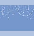 blue cover poster card banner white garland vector image