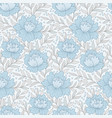 blue flowers pattern vector image