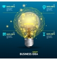 business idea concept illuminated lamp vector image