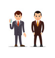 business man businessman stand and holds glass of vector image vector image