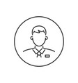 business man related glyph icon vector image vector image