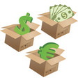 business symbols in boxes set - 01 vector image