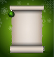 Christmas scroll vector image