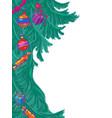 Christmas tree new year background
