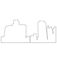 cities path on white background vector image