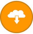 cloud download glyph multi color background vector image vector image