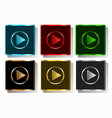 colorful play button vector image